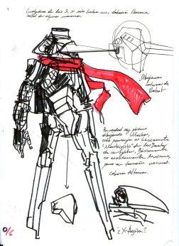 este diseño esta basado en otro robot que tengo en otra libreta: originalmente se llamaba Montecristo